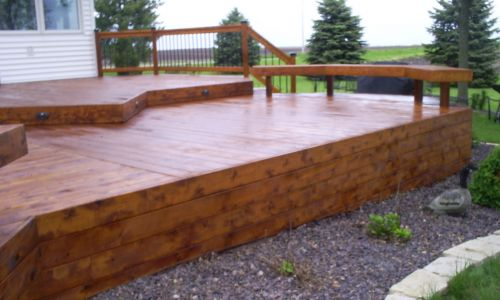 Deck and Fence Cleaning Restoration Services  - After