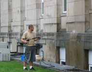Pressure Washing Services - Courthouse Before